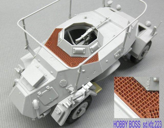 画像1: ホビーボス Sd.kfz223用ハニカムデッキセット