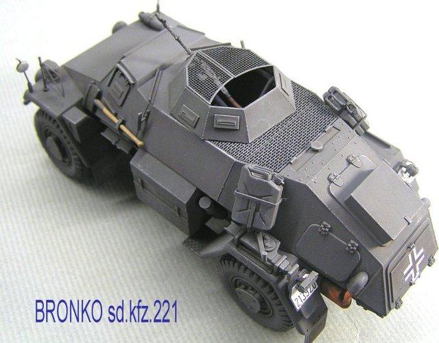 画像1: ブロンコ sd.kfz.221用ハニカムデッキセット