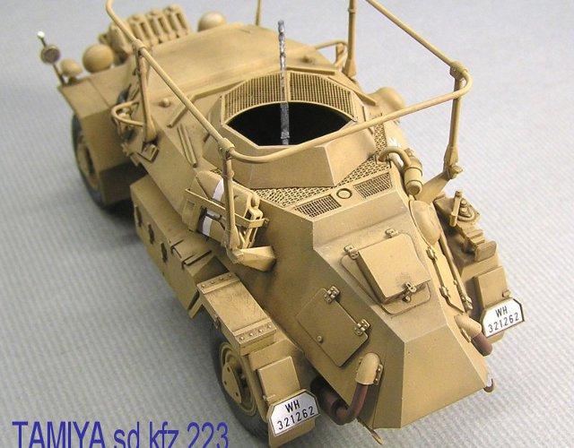 画像1: タミヤ sd.kfz.223用ハニカムデッキセット